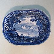 "Staffordshire Bowl ""Genoa"" ca. 1830"