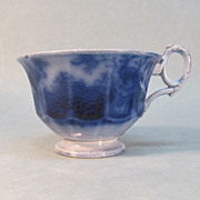 Flow Blue Ironstone Cup ca. 1855-65