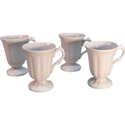 "Four White Ironstone ""Ceres"" Syllabub Cups ca. 1850"