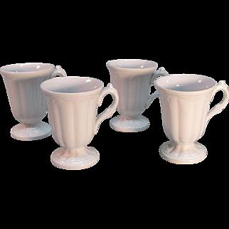 "Four White Ironstone ""Ceres"" Syllabub Cups ca. 1850"