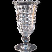Sandwich Glass Paneled Waffle Pattern Celery Vase ca. 1860
