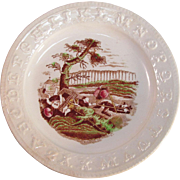 Staffordshire ABC Plate