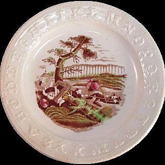 Staffordshire ABC Plate