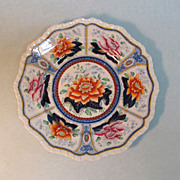 "Decorated ""Stone China"" Plate ca. 1825"