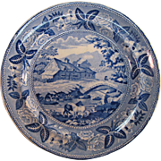 British Scenery Plate ca. 1830