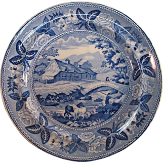 British Scenery Plate ca. 1830