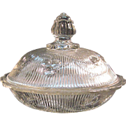 Bellflower Flint Covered Butter Dish ca. 1860