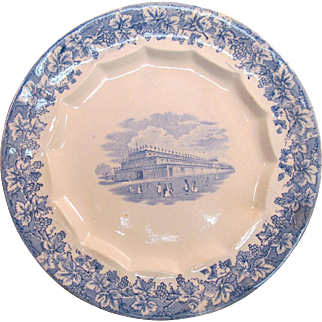 Crystal Palace Transfer Ware Plate ca. 1850s