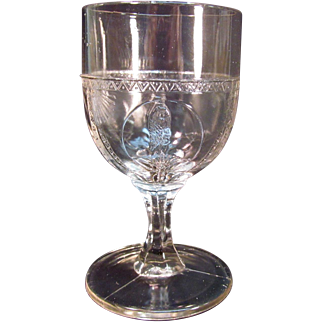 Parrot and Fan Goblet circa 1890