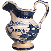 """English """"Faux Canton"""" Pitcher ca. 1840"""