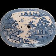 Pearlware Platter Drainer ca. 1820