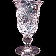 Horn of Plenty Flint Glass Celery Vase ca. 1860