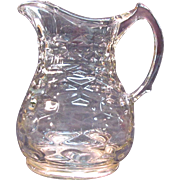 Honeycomb Water Pitcher dated 1865
