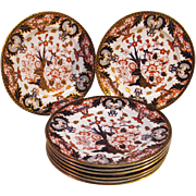 "Eight Derby Imari ""Kings"" Plates ca 1880"
