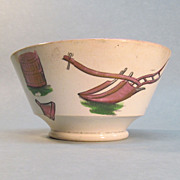 Staffordshire Bowl with Farming Motif Transfers ca. 1835-40