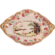 "Spode ""Stone China"" Oval Dish Chinoiserie Decoration ca. 1815"