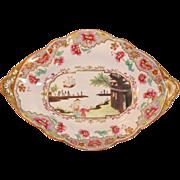 "Spode ""Stone China"" Oval Dish Chinoiserie Decoration ca. 1815"