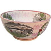Sunderland Luster Bowl with Political/Historic Scenes ca. 1850