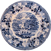 Rorstrand Blue Transfer Plate ca. 1835