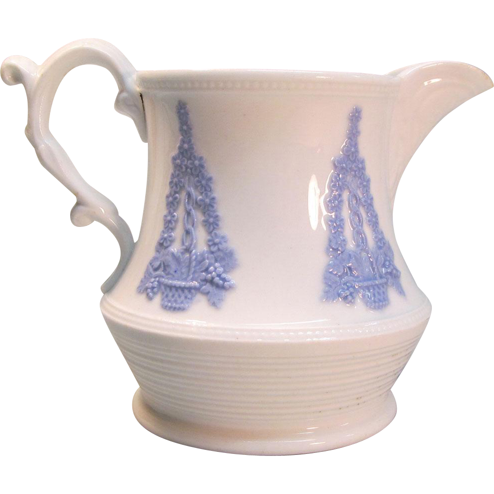 Creamer with Applied Sprigging ca. 1840