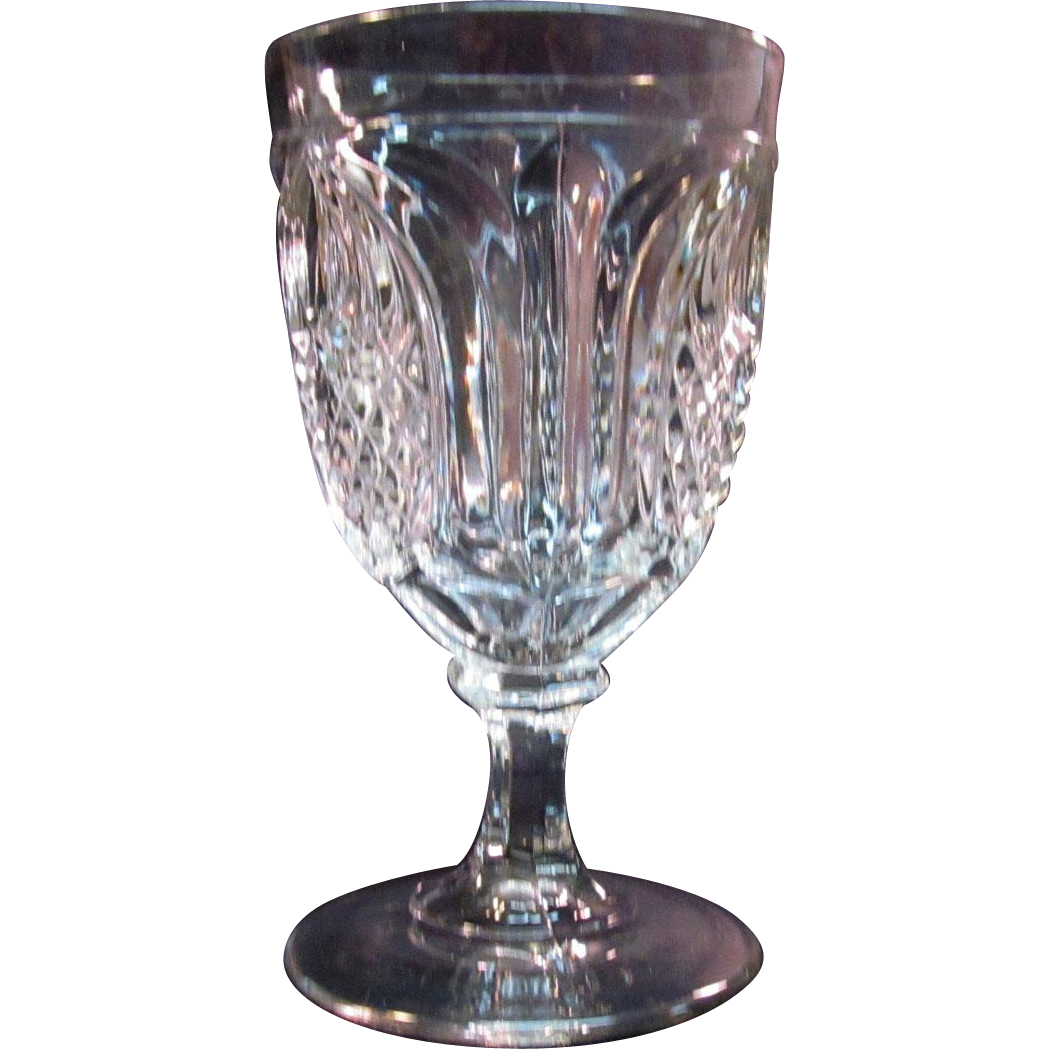 "New England Pineapple ""Ladies"" Goblet ca. 1850 - 70"
