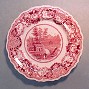 "Staffordshire Plate ""North Conway, New Hampshire"""