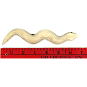 Huge Victorian Hand Carved Bone Snake Pin