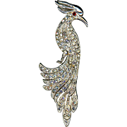 Large Rhinestone Cockatoo Bird Pin