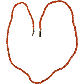 "Vintage Natural Coral 17"" Childs Necklace"