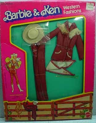 Mattel NRFB Barbie Western Fashion, Western Elegance #3579 from 1981.