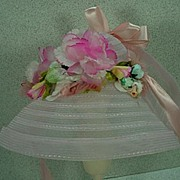 "Original Madame Alexander Hat for 21"" Agatha Portrait Doll, 1979-80."