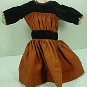 Lovely, Vintage Doll Dress in Velvet and Wool