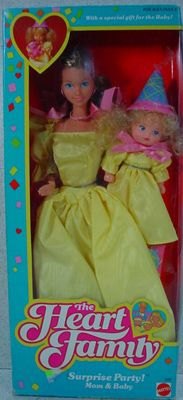 Nrfb Mattel 1986 Heart Family Surprise Party With Mom And