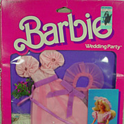 NRFB Skipper Flower Girl Set from the Mattel 1984 Barbie Wedding Party Series.