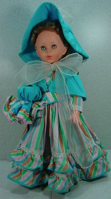 """16"""" Italian """"Furga Look-a-like""""  Doll in Original Outfit dated 1967!"""