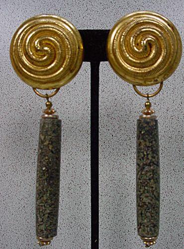 Vintage Long Drop Earrings by Kate Hines, 1980's!