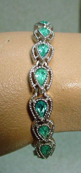 Delicate, Trifari, Silver Tone, Pale Blue Rhinestone, Bracelet, 1960's.
