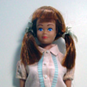 Mattel 1960's Molded Hair Midge with Original Pigtail Wig, So Cute!
