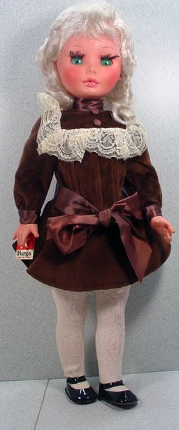Charming 1960's Furga Doll, All Original!