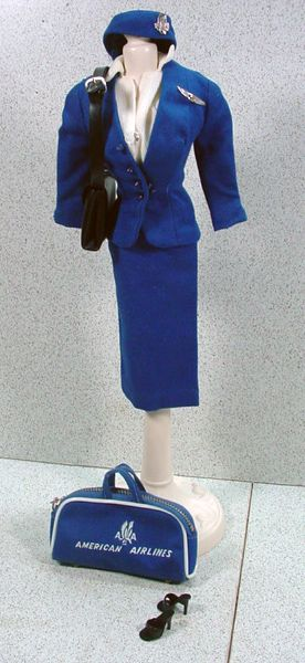 Mattel Barbie Outfit American Airlines Stewardess
