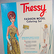 Vintage Tressy Fashion Model Coloring Set, MIB,1960's!