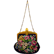 Whiting and Davis Needlepoint Purse…