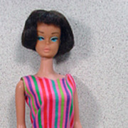 Mattel 1965 Brunette American Girl Barbie, Peach Lips!