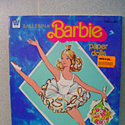 Uncut, Whitman Ballerina Barbie Paper Dolls, 1977!
