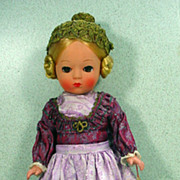Vintage Early Hard Plastic Tyrolan Doll by Helga