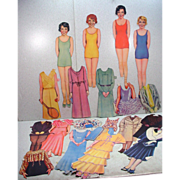 Vintage 1930's Paper Dolls with Clothing, Very Cool!