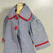 1950's Gabardine Doll Coat and Matching Hat