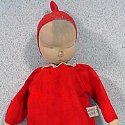 Shackman Sleepy Baby Doll in Red, 1957