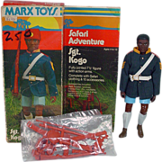 Rare Marx Safari Adveture Sgt. Kogo Action FIgure, MIB, 1975