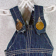 Original Buddy Lee Bib Overalls for Buddy Lee Doll, 1950's